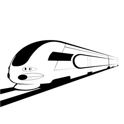 Railways clipart high speed train #4