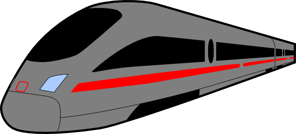 Train clipart modern train #6