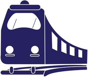 Railways clipart metro train #1