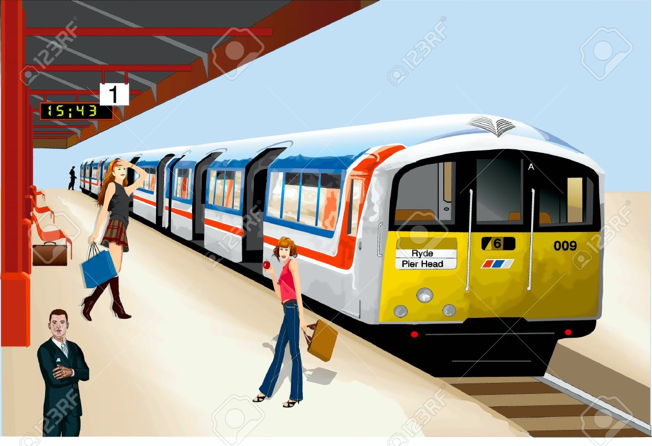 Railways clipart metro train #3