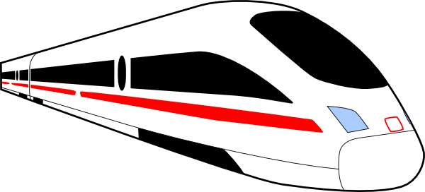 Train clipart modern train #1
