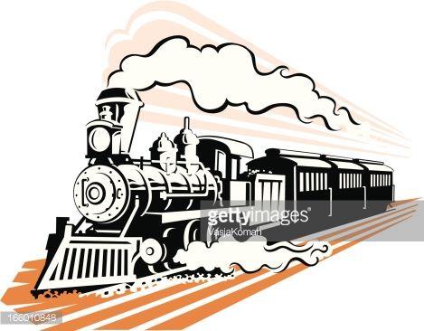 Railways clipart old train Railroad Silhouettes Vectors best Clipart
