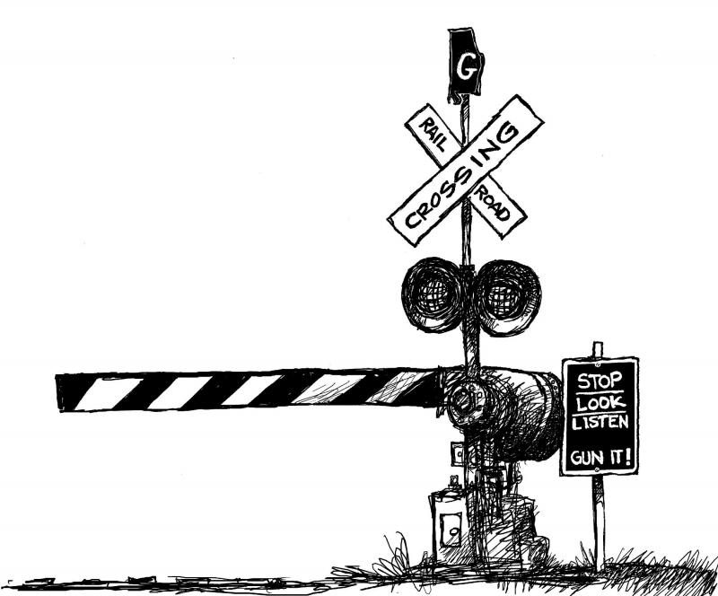 Railways clipart railroad crossing #4