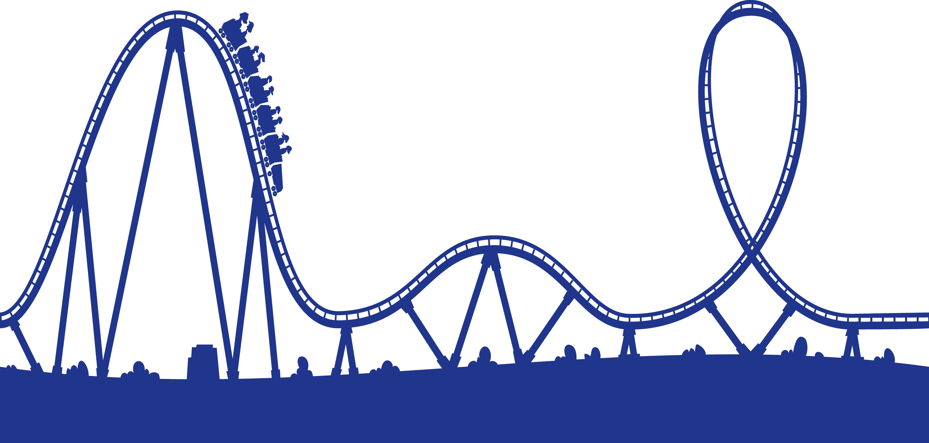 Simple clipart roller coaster Tracks Coaster Roller Track cliparts