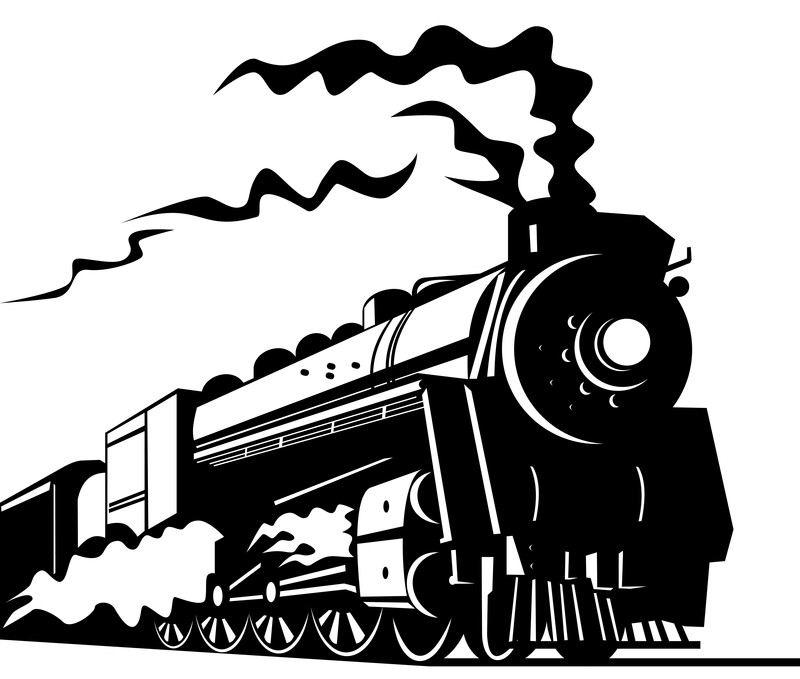 Railways clipart steam engine #8