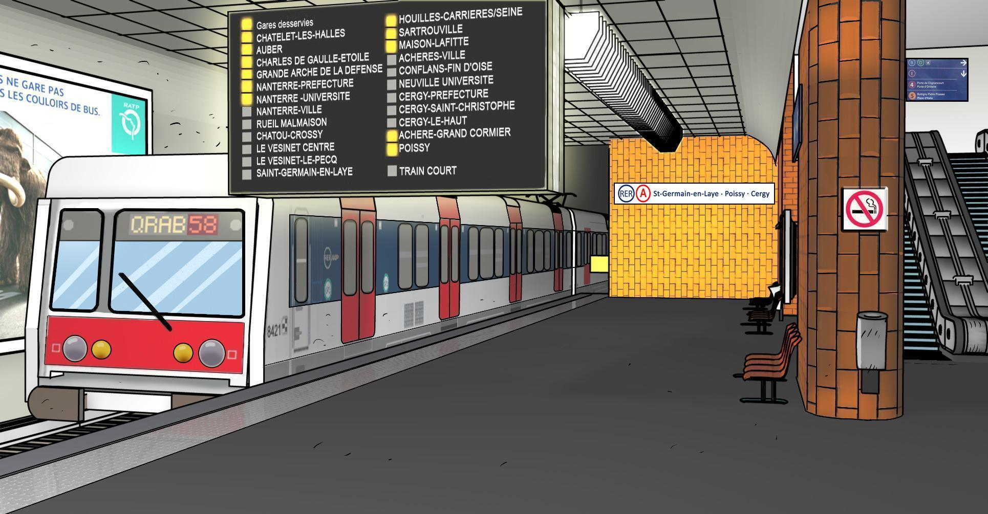 Subway clipart railway platform Station Train Art Clip Medium