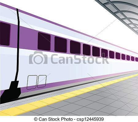 Subway clipart railway platform Csp12445939 platform  and Subway