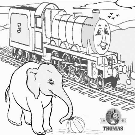 Drawn railroad children's Elephant Drawing the Thomas