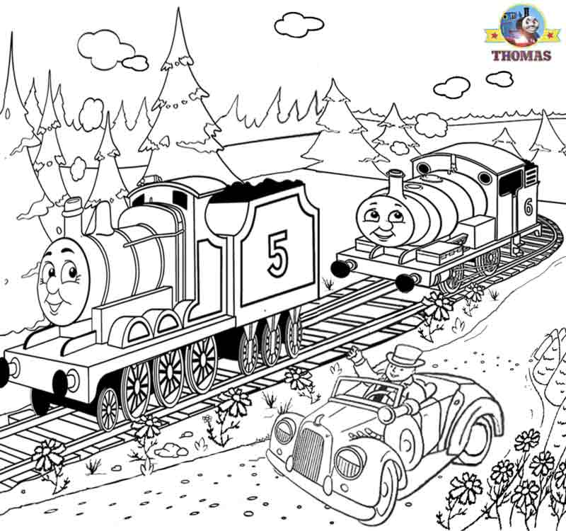 Drawn railroad thomas the tank engine Thomas for the pictures train
