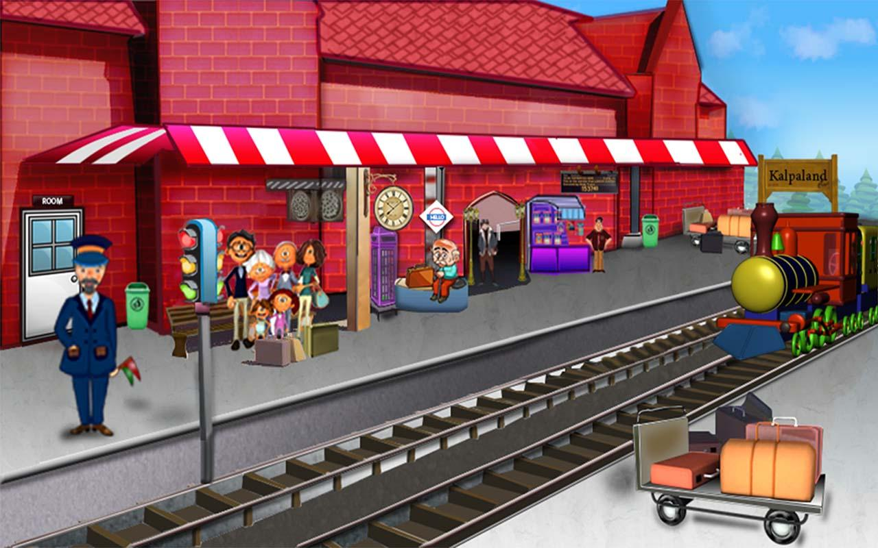 Train Station clipart railway station scene Size Art: Art Train Clip