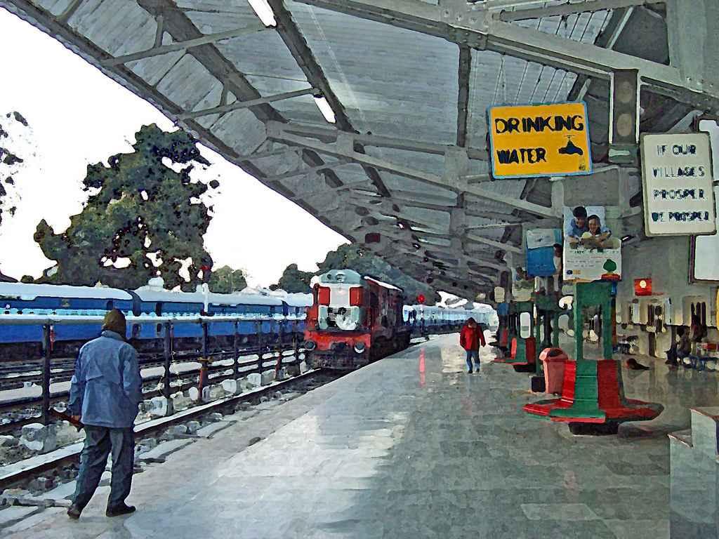 Train Station clipart railway station scene At Railway Students  School