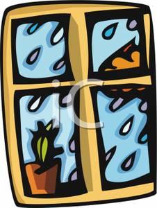 Window clipart rain Outside a Picture Window Outside