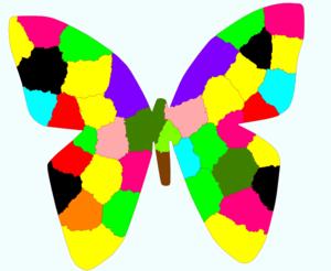 Rainbow Butterfly clipart Rainbow Art Clip Rainbow Butterfly