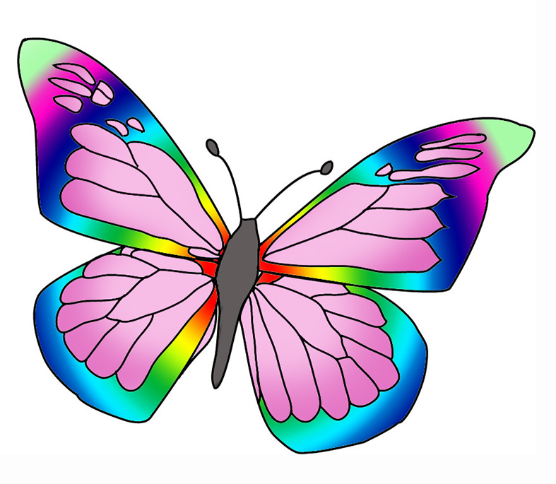 Rainbow Butterfly clipart Rainbow photo#15 clipart Rainbow Butterfly