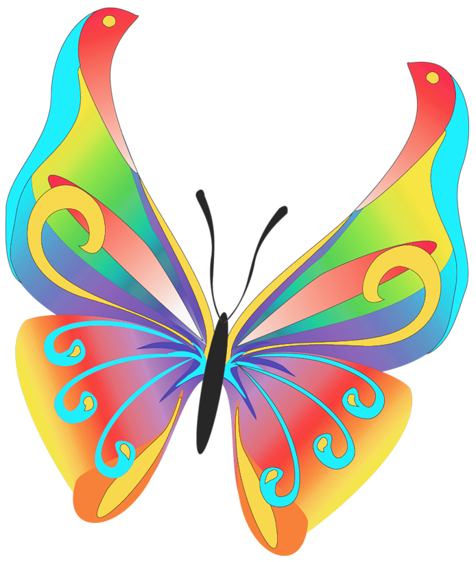 Key clipart lost key Art Rainbow Clip Butterfly Bay