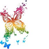 Rainbow Butterfly clipart Rainbow sky the · butterfly