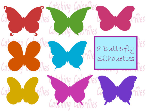 Rainbow Butterfly clipart Butterfly Clip from Clipart Instant