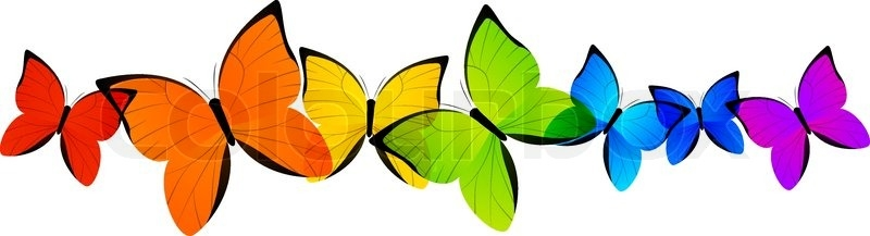 Rainbow Butterfly clipart Rainbow photo#11 clipart Rainbow Butterfly
