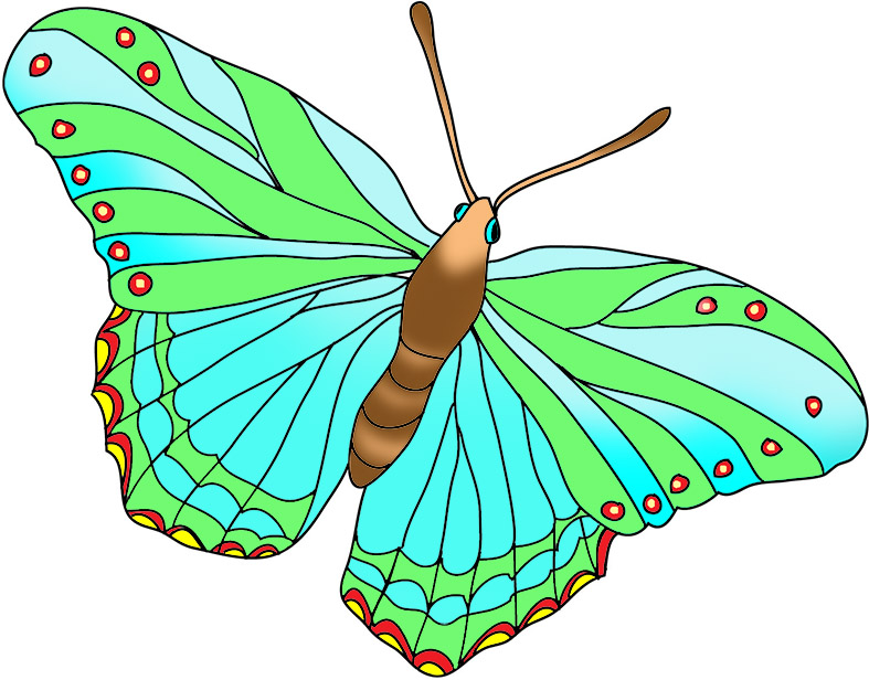 Beautiful clipart blue butterfly Colored and butterfly Blue Beautiful