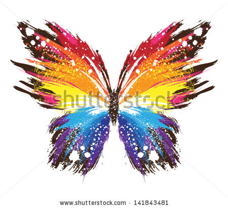 Drawn butterfly rainbow ShutterStock rainbow gribakina via butterfly