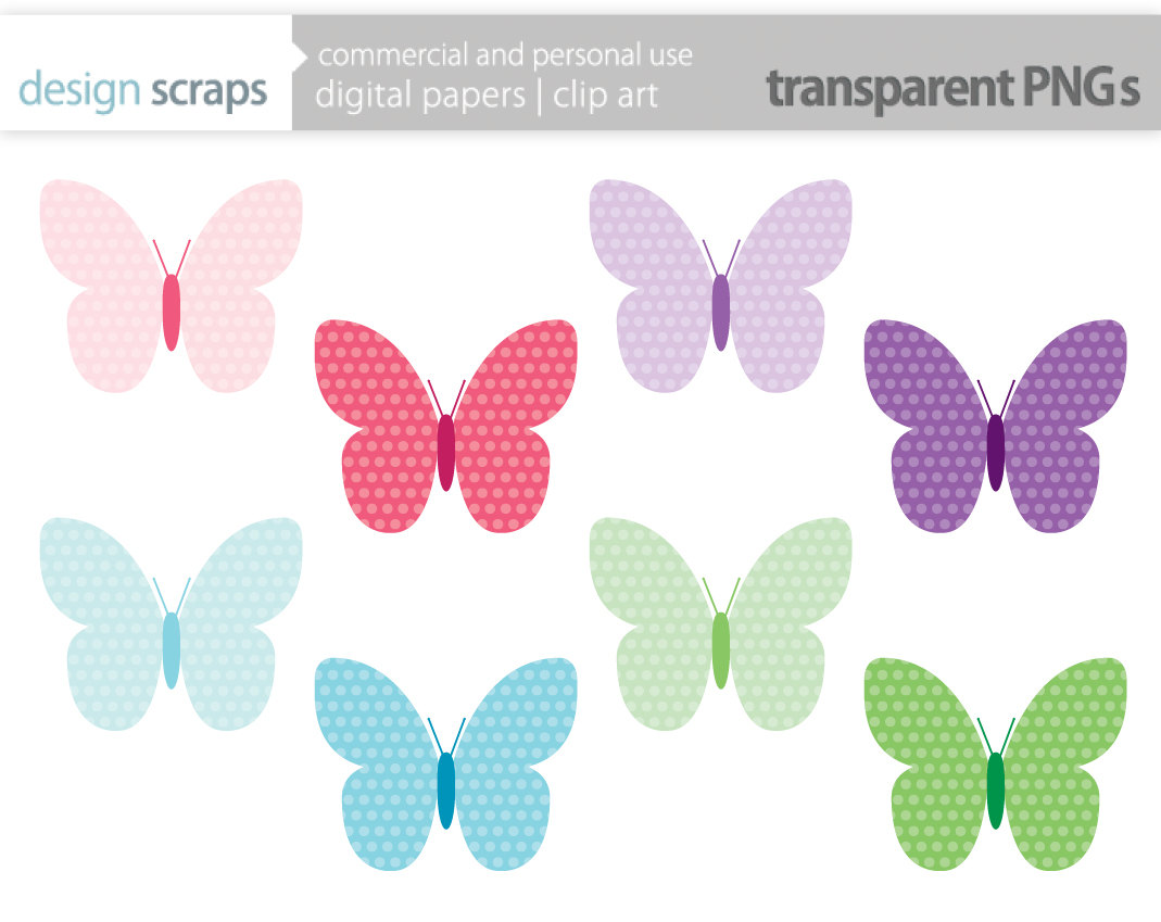 Butterfly clipart pink baby Polka Polka cliparts Clipart Dot
