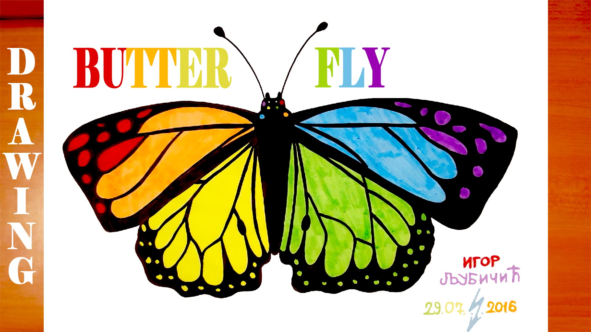 Drawn butterfly rainbow To and #MrUsegoodART Butterfly Color
