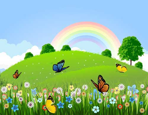 Garden clipart background png Designs and Butterfly Vector for