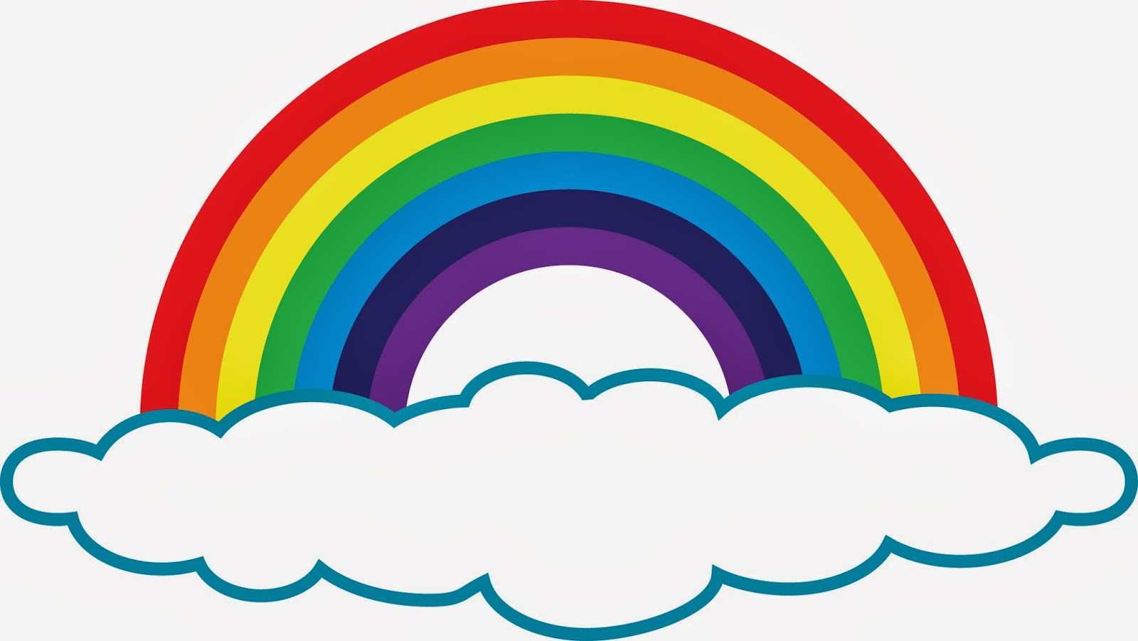 Vector clipart rainbow #2
