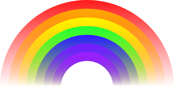 Vector clipart rainbow #7