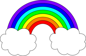 Rainbow clipart Rainbow white images Clip clipart