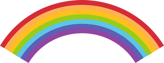 Vector clipart rainbow #15