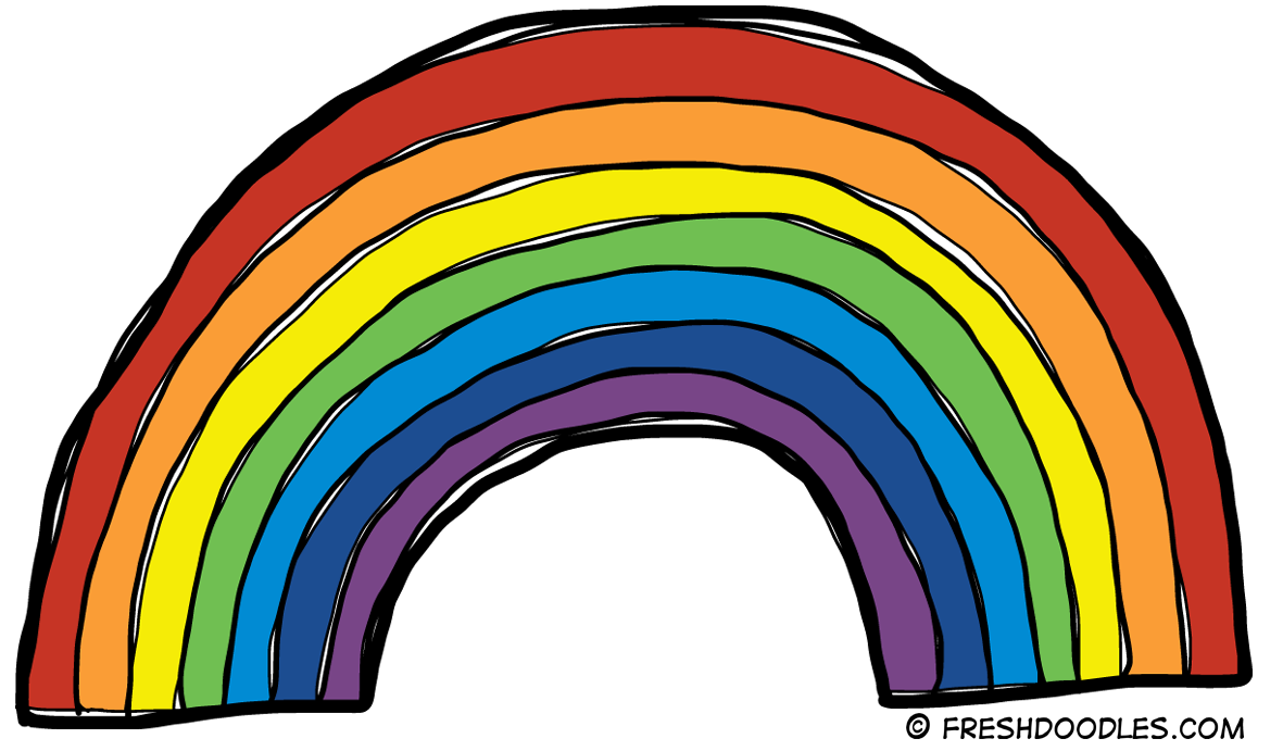 Rainbow clipart Free white images Rainbow clipart