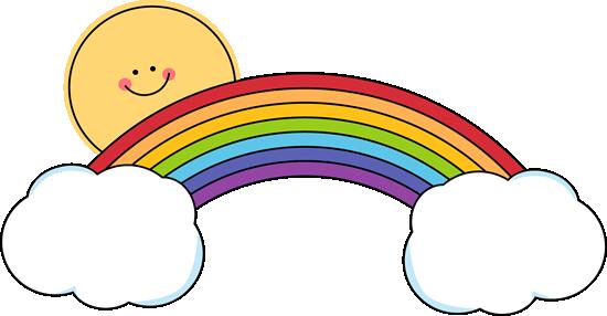 Rainbow clipart Rainbow Rainbow Peeking Rainbow Over