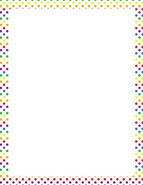 Dots clipart rainbow Polka polka border GIF rainbow
