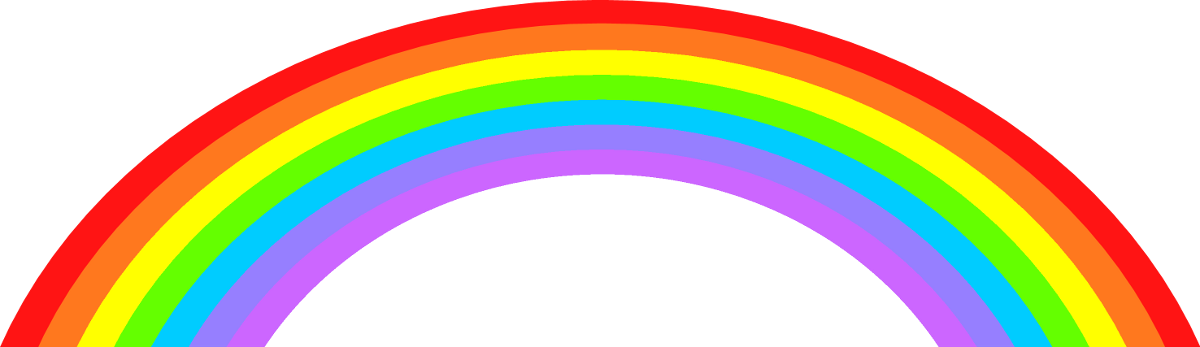 Vector clipart rainbow #3