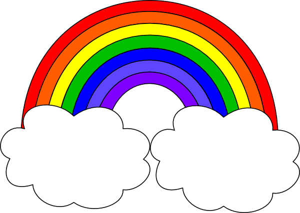 Vector clipart rainbow #14