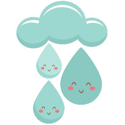 Raindrops clipart cute Raindrops file file scrapbook silhouette
