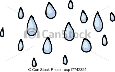 Drawn raindrops teardrops falling Csp17742324 Vector cartoon raindrops Vector