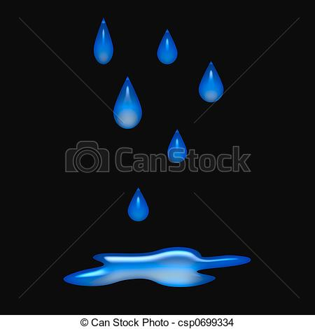 Drawn raindrops free water Clipart  and Raindrops background