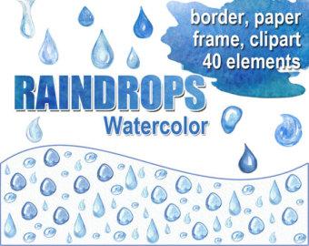 Raindrops clipart rain droplet Paper Raindrops Clipart raindrops clipart