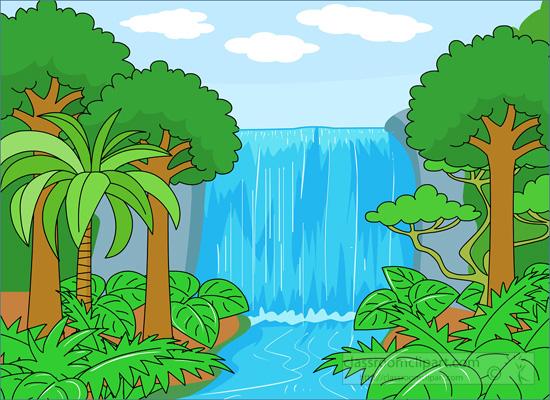 Waterfall clipart Rainforest #14810 Rainforest com Clipart