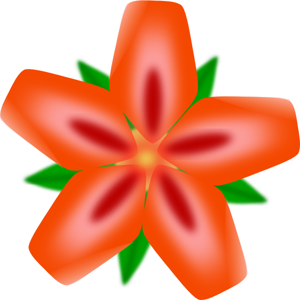 Red Flower clipart hawaiian #9