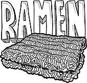 Ramen clipart Royalty Cart Art noodles sketch