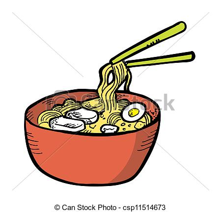 Ramen clipart Sliced of with Japanese Style