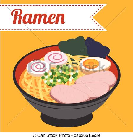 Noodle clipart japan Of Ramen Japanese vector csp36615939