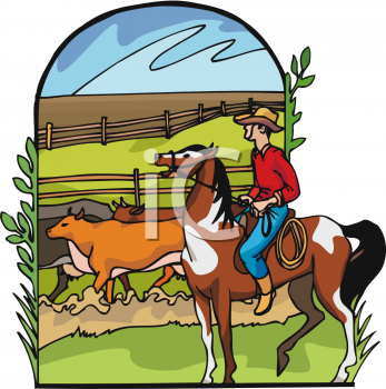 Ranch clipart background Cowboy Ranch  Clipart