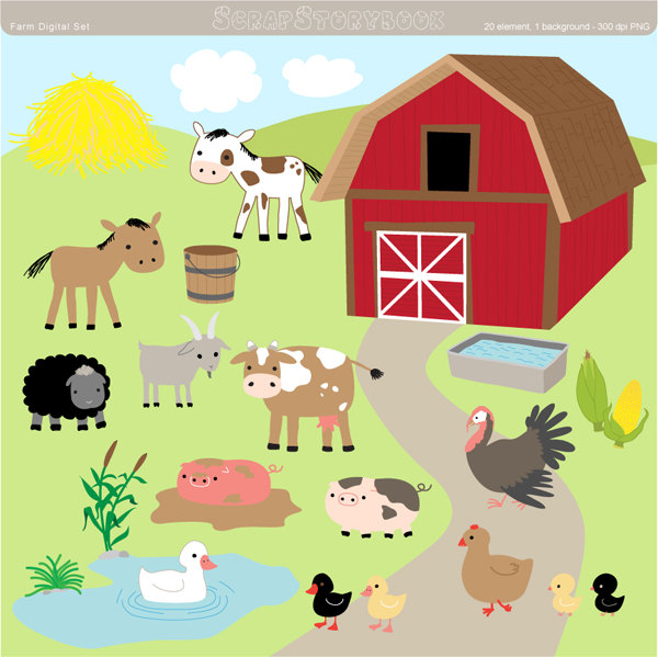 Ranch clipart cow house Free Images Free Panda Clipart