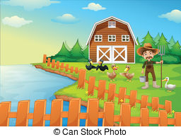 Ranch clipart background His Illustrations ducks A and