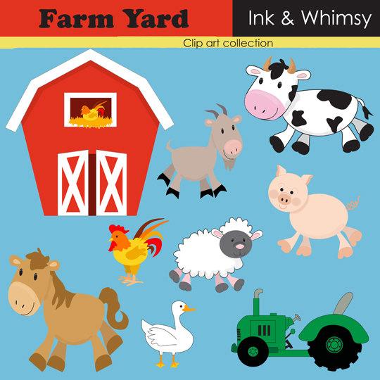 Cattle clipart barnyard animal Download friends Free Art Ranch