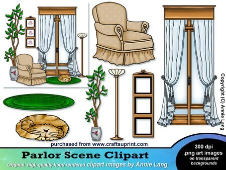 Ranch clipart classroom scene Scene rendered Designed and Parlor
